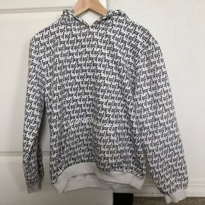 Fear of God logo hoodie size large